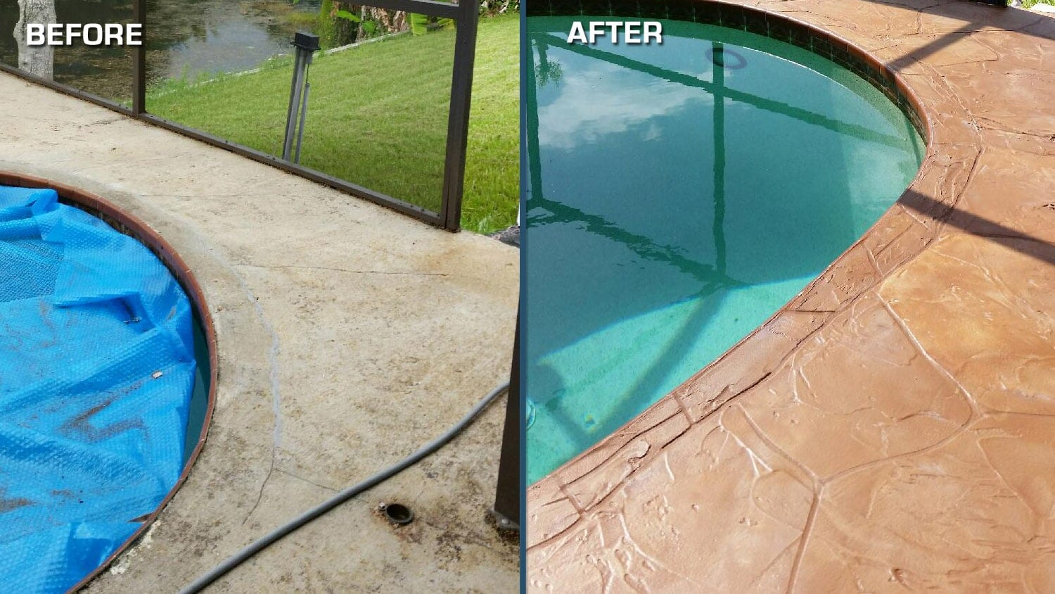 Pool Deck Resurfacing Interesting Resurface Your Pool Deck  West Palm Beach  Concrete Designs