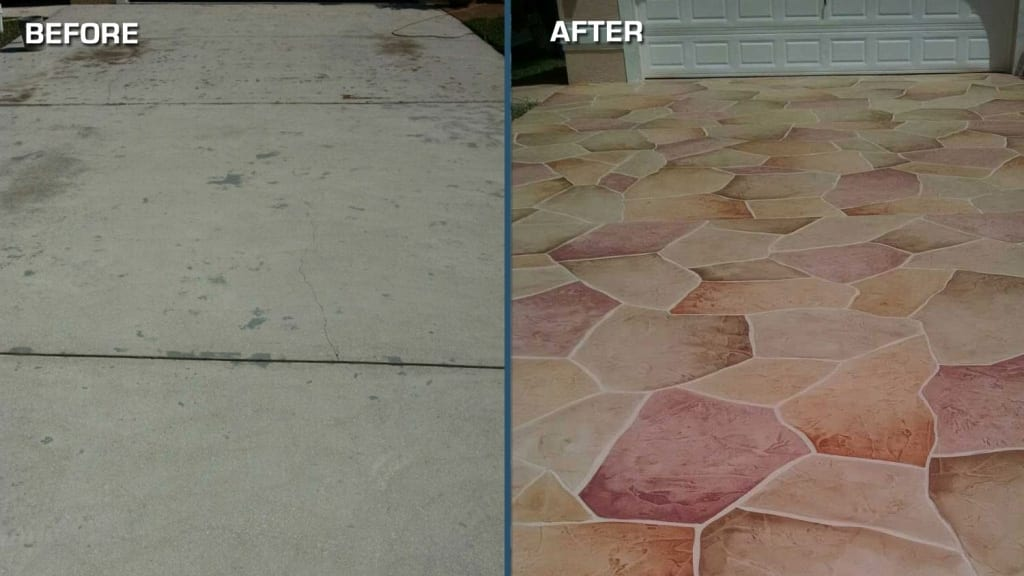 Before after carla willimas angieslist concrete design