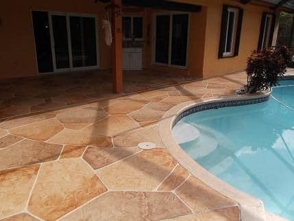 pool deck concrete design