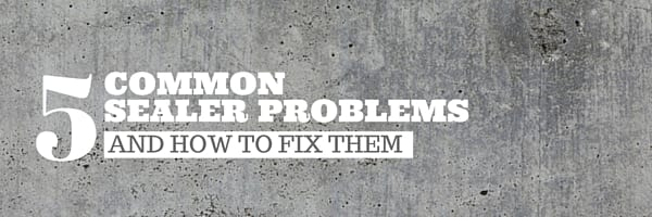 common problems with concrete