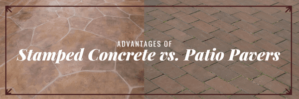 Stamped Concrete vs Patio Pavers