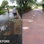 stamped concrete pavers